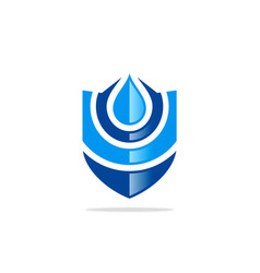 water protection shield logo vector image vector image