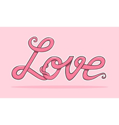 word love vector image