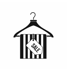 Hanger with sale tag icon simple style vector