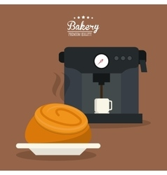 Bread bakery coffee food icon graphic vector