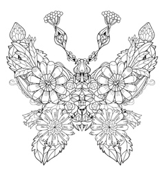 Stylized tropical lace butterfly of paradise vector