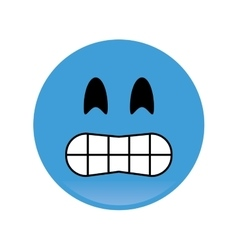 Smile emoticon icon vector