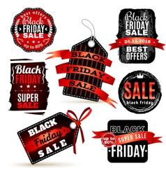 Black fridays labels set vector