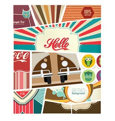Scrapbook Design vector image