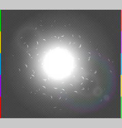 Abstract white explosion spark space modern design vector