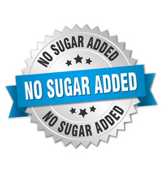 No sugar added round isolated silver badge vector