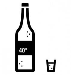 vodka vector image