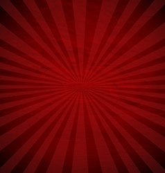 Retro red sunburst poster vector