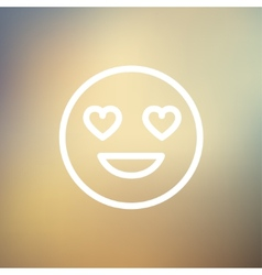 In love thin line icon vector