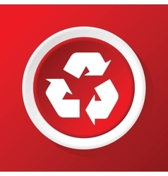 Recycle icon on red vector