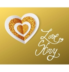 Love story - valentines day greeting card white vector