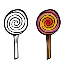 Lollipop coloring book vector