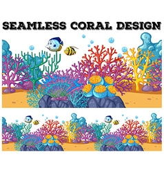 Seamless coral reef under the ocean vector