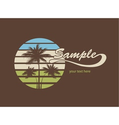 summer t-shirt design vector image