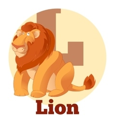 Abc cartoon lion2 vector