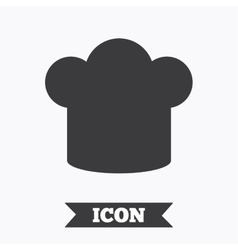 Chief hat sign icon cooking symbol vector