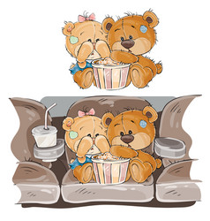 A couple of brown teddy vector