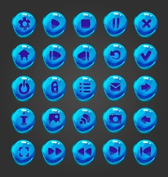 Big set of button for game design vector image