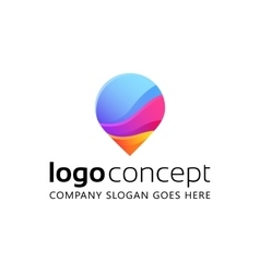 Creative abstract logo vector image