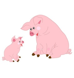 Cute Pigs vector image