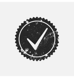 Distressed checkmark stamp vector