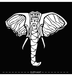 ethnic elephantfor cards designhand drawn vector image vector image