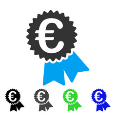 Euro featured price tag flat icon vector