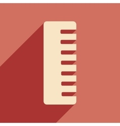 Flat with shadow icon and mobile application comb vector