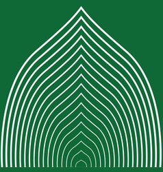 green striped leaf vector image vector image