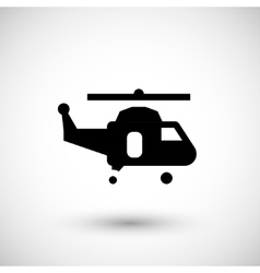Helicopter symbol icon vector image vector image