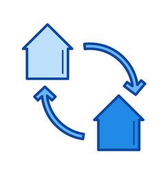 house exchange line icon vector image vector image