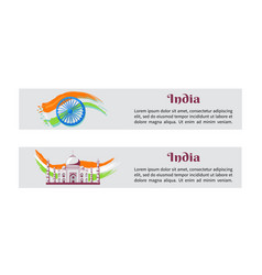 independence day india posters with national flag vector image vector image
