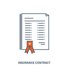 life insurance contract the provision of services vector image