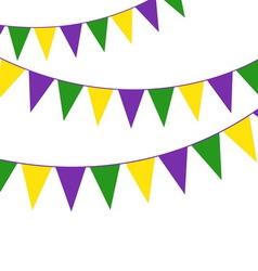 Mardi gras party bunting vector