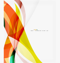 modern creative curve background with copy space vector image
