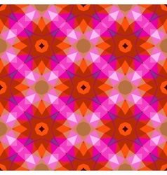 Pattern with geometric shapes in style 1970 vector
