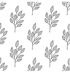 Seamless plant pattern vector