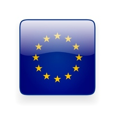 Square icon with flag of the european union vector