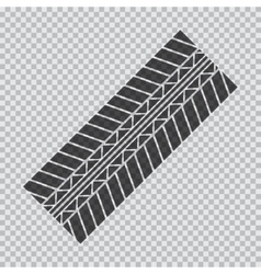 Transparent tire track vector