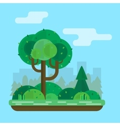 Tree in the park vector