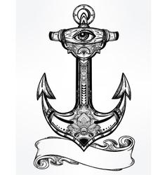 Vintage anchor symbol vector
