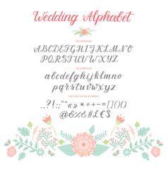 wedding day ceremony alphabet text celebration vector image vector image