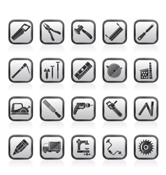 Carpentry logging and woodworking icons vector