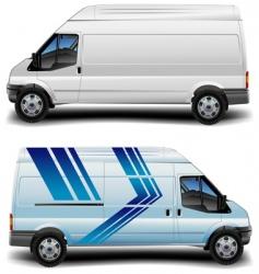 minibus in blue vector image