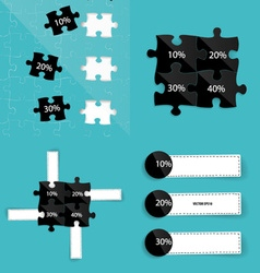Modern infographics template style Business puzzle vector image