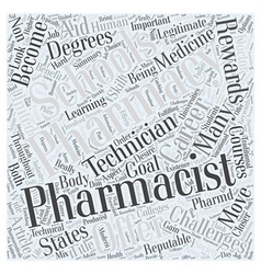 Pharmacy schools a closer look word cloud concept vector