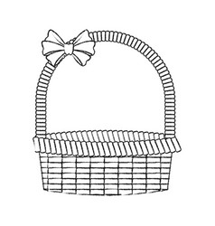 straw basket icon image vector image