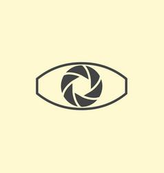 Photography logo design eye vector