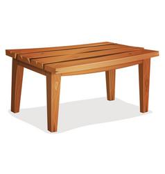 cartoon wood table vector image