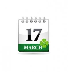 St patrick calendar vector